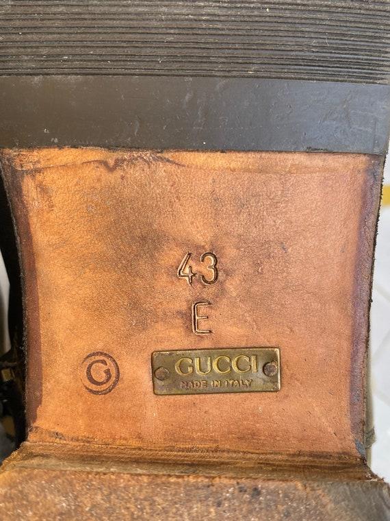 80s Shoes Gucci/Vintage Leather shoes Gucci/Black… - image 7