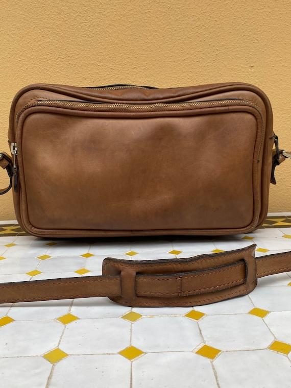 70s Gucci Vintage authentic Crossbag/Brown leathe… - image 4