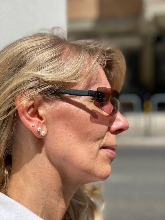80s Sun glasses Chanel/Vintage sunglasses /Luxury