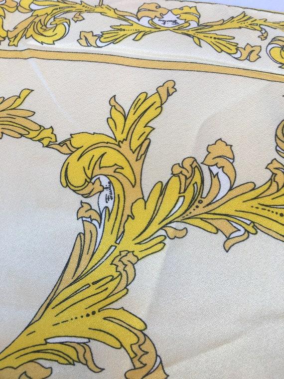 70s FOULARD vintage EMILIO PUCCI /White-yellow sca