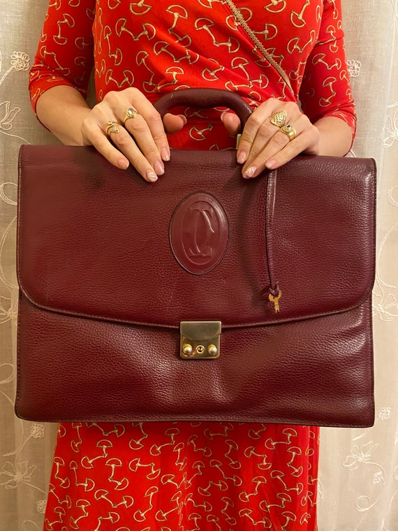 Craftsman bag Cartier/Bordeaux leather briefcase C