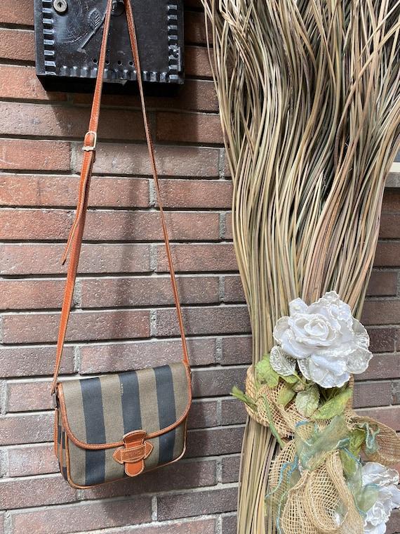 80s FENDI crossbody Pequin Zucca/Fendi bag/Leather