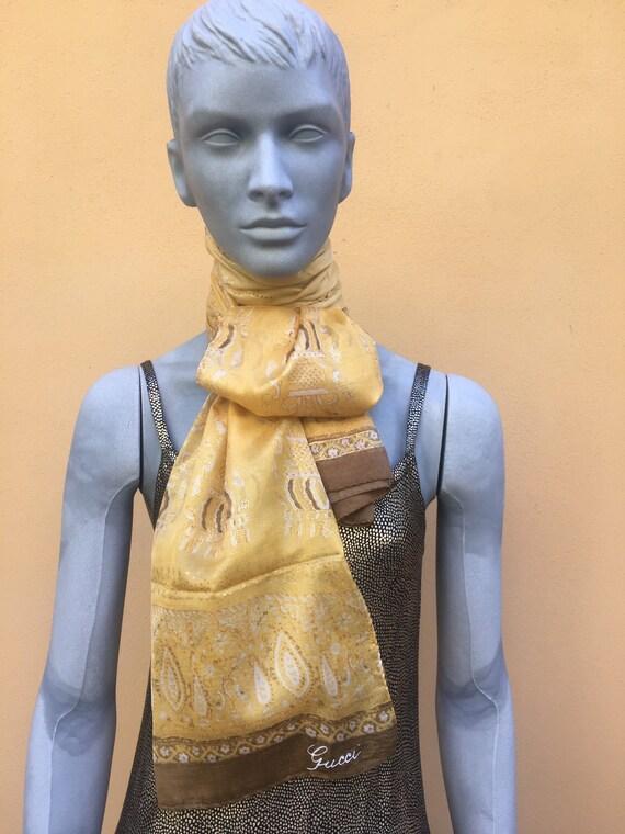 Gucci scarf silk/ Vintage scarf silk/ Gucci Scarf