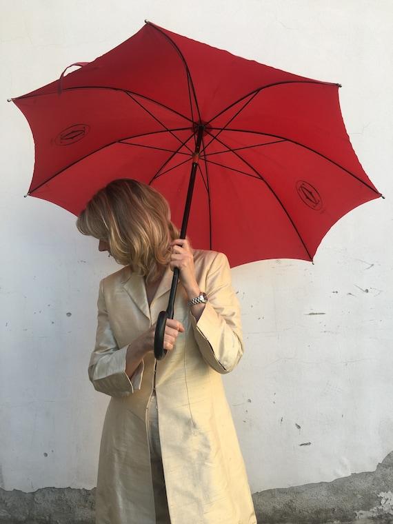 Umbrella Cartier/ Vintage umbrella Cartier/ Rain u
