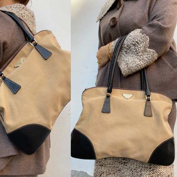 Shoulder bag Prada/Vintage Bag Prada 80s/ Canvas b