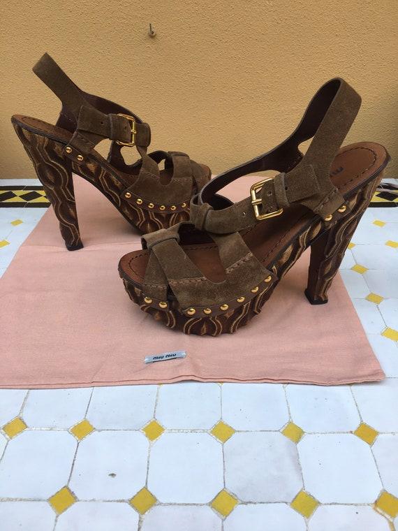 Sandals Miu Miu/ Miu Miu designer sandals/ Leathe… - image 6