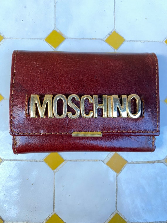 Moschino/Brown leather wallet Moschino Italy/Mosch