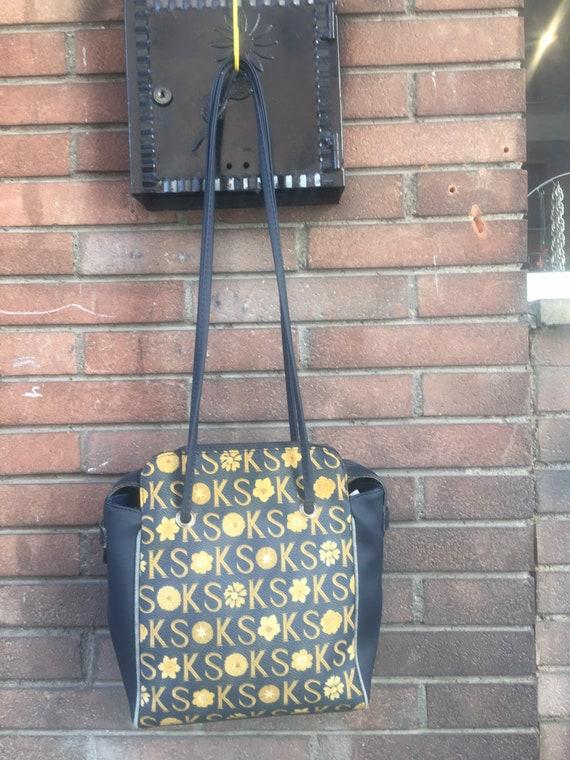 Shoulder bag/ Vintage SHOPPERBAG KEN SCOTT/ Blue-y
