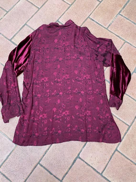 80s Vintage patchwork shirt Italy/Bordeaux shirt/… - image 9