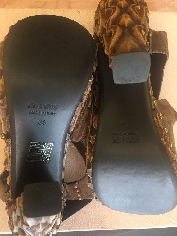 Sandals Miu Miu/ Miu Miu designer sandals/ Leathe… - image 10