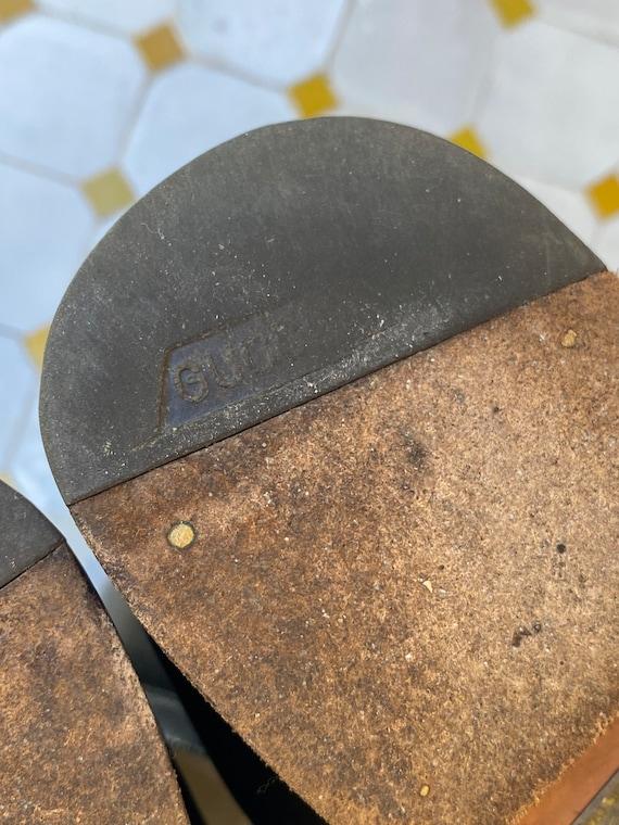 80s Shoes Gucci/Vintage Leather shoes Gucci/Black… - image 9