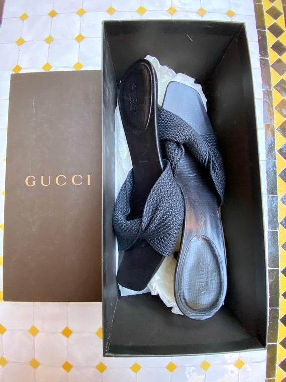 Gucci Vintage/Vintage Gucci sandals/Sabot black Gu