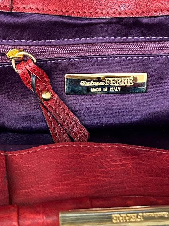 Shoulder bag Ferre/Vintage bag Gianfranco Ferre N… - image 8