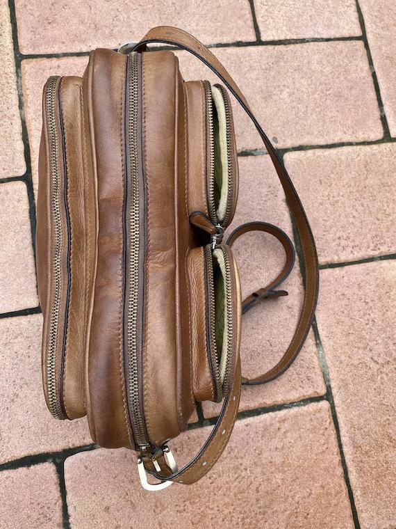 70s Gucci Vintage authentic Crossbag/Brown leathe… - image 7