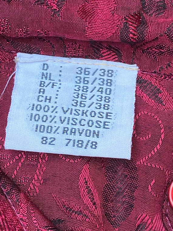 80s Vintage patchwork shirt Italy/Bordeaux shirt/… - image 10