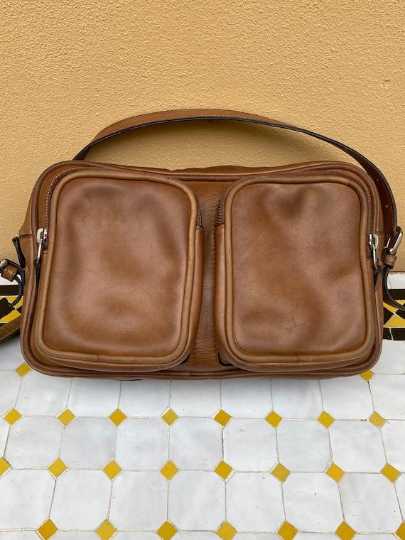 70s Gucci Vintage authentic Crossbag/Brown leathe… - image 3