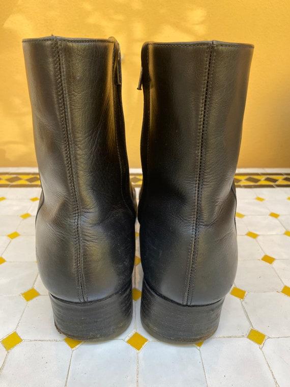 80s Shoes Gucci/Vintage Leather shoes Gucci/Black… - image 4
