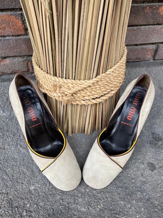 Shoes Miu Miu/ Miu Miu designer décolleté/Leather