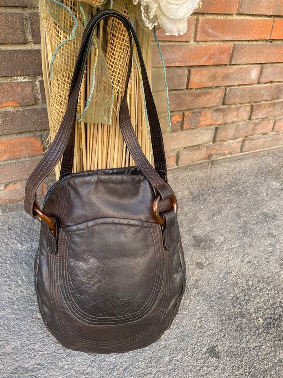Shoulder bag/ Vintage bag Design/Brown leather bag
