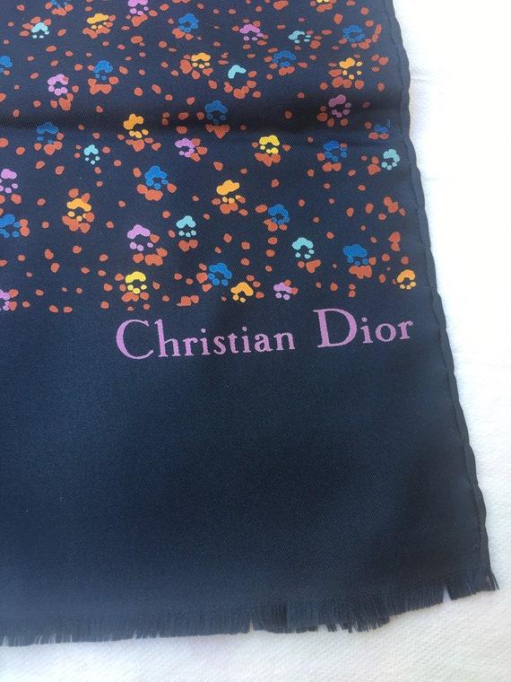 Christian Dior/Silk Scarf Christian Dior/ Blue Sca