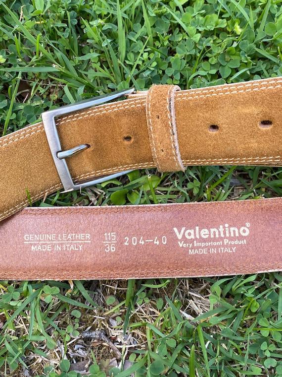 90s Belt vintage Valentino/Beige leather belt/Vint