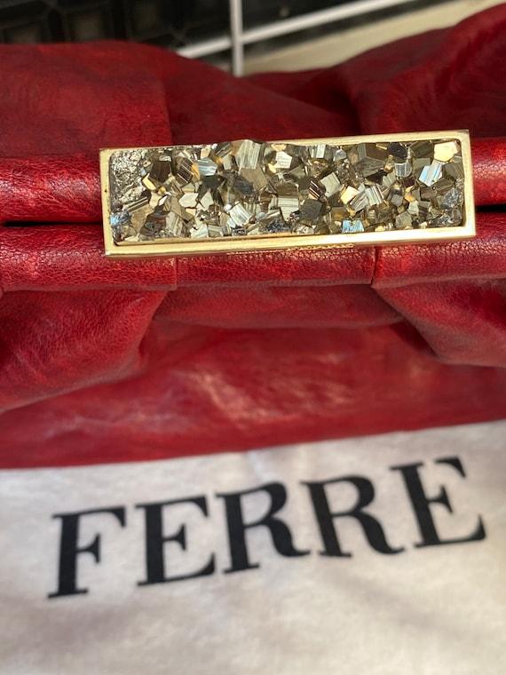 Shoulder bag Ferre/Vintage bag Gianfranco Ferre N… - image 5