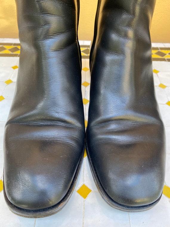 80s Shoes Gucci/Vintage Leather shoes Gucci/Black… - image 5