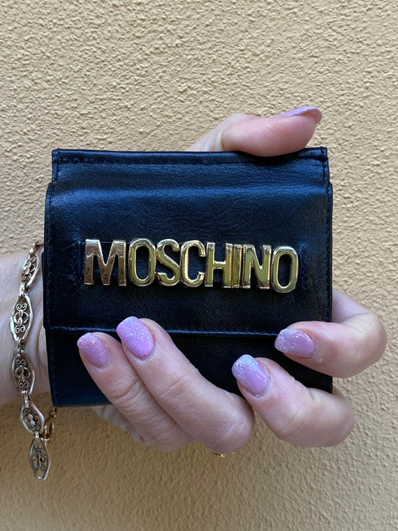 Moschino/Black leather wallet Moschino Italy/Mosch