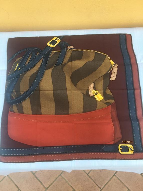 70s Fendi scarf scarf bag / Silk scarf Fendi/ Vint