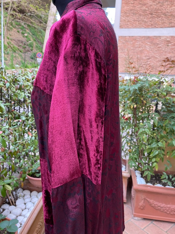 80s Vintage patchwork shirt Italy/Bordeaux shirt/… - image 5