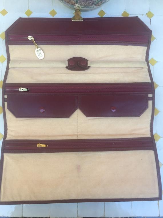 Jewelry bag holder/ Bag jewelry box/ Leather jewel