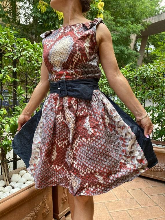 Dress vintage Prada/Prada Couture dress/ Cotton fa