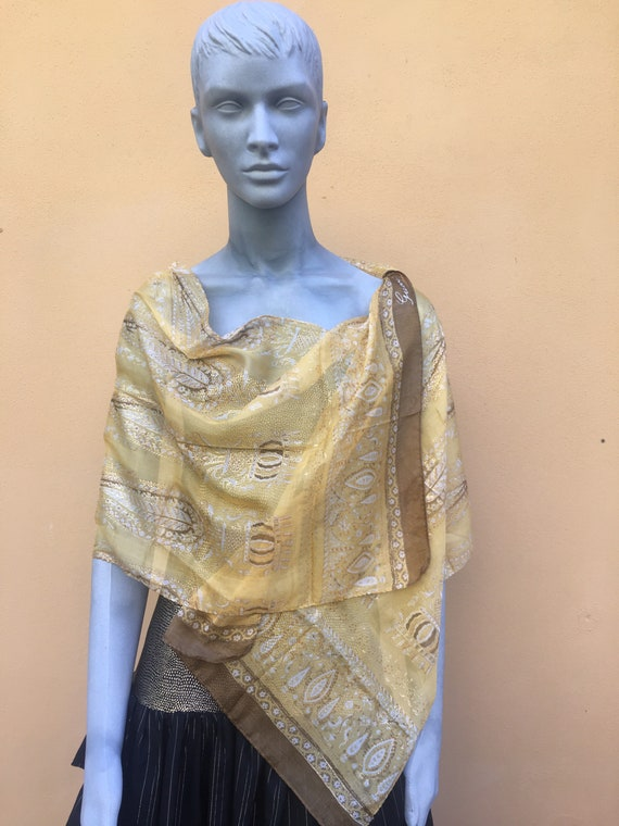 Scarf Gucci / Vintage scarf silk/ Gucci Scarf Desi