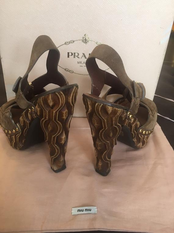 Sandals Miu Miu/ Miu Miu designer sandals/ Leathe… - image 8