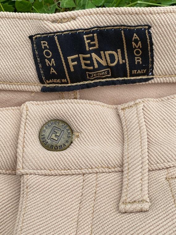 90s Fendi jeans elastan/Fashion Fendi pants/Beige