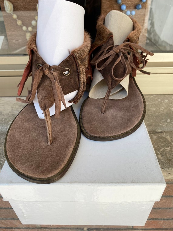 Sandals Curly/ Roby designer sandals/ Leather brow