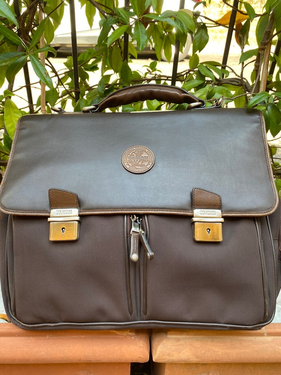 Craftsman bag The Bride/Brown leather briefcase Th
