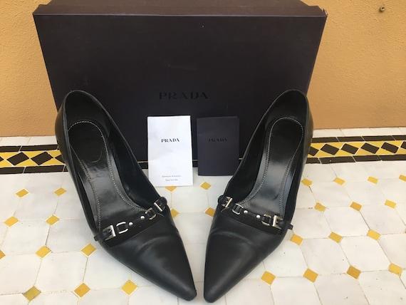 DECOLLTE PRADA VINTAGE/ Lady Prada style shoes/ Bl