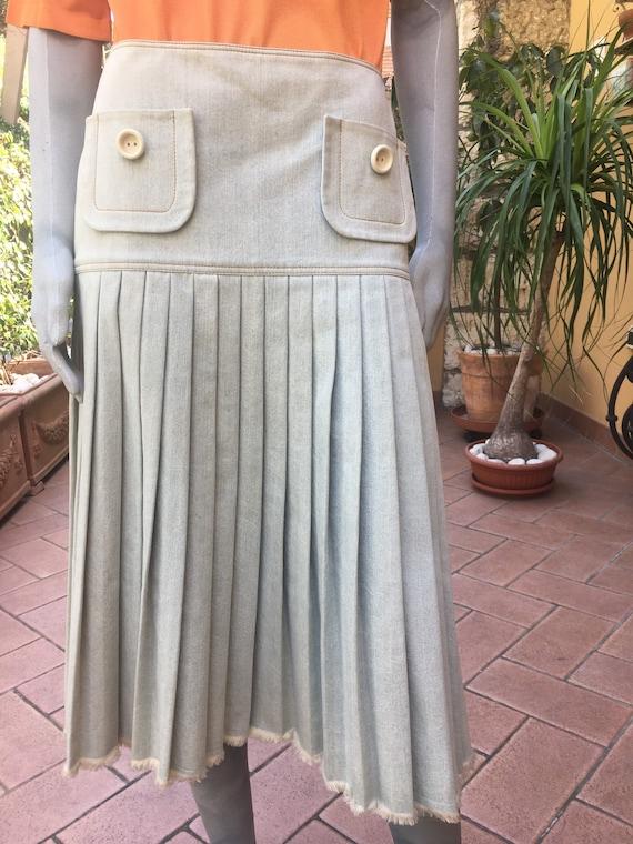Cristian Dior skirt/ Denim Cristian Dior vintage/
