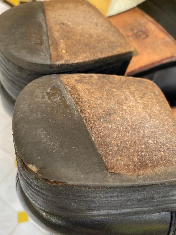 80s Shoes Gucci/Vintage Leather shoes Gucci/Black… - image 10