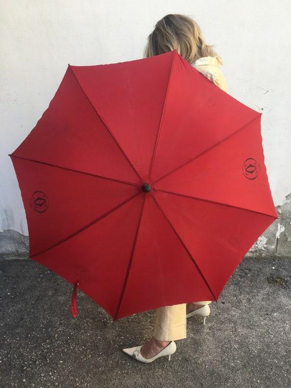 Umbrella Cartier/ Vintage umbrella Cartier/ Rain … - image 3