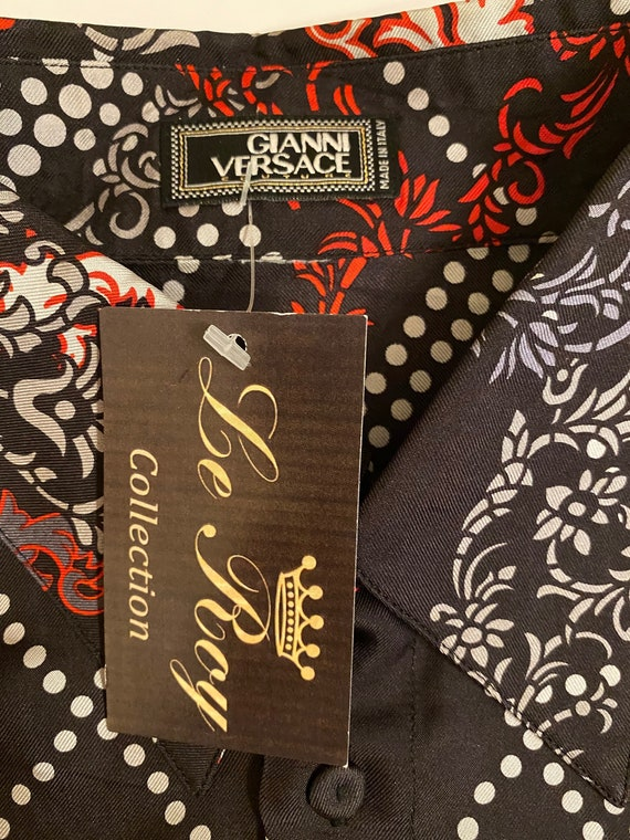 Versace Vintage 90s shirt/Fashion shirt Gianni Ve… - image 8