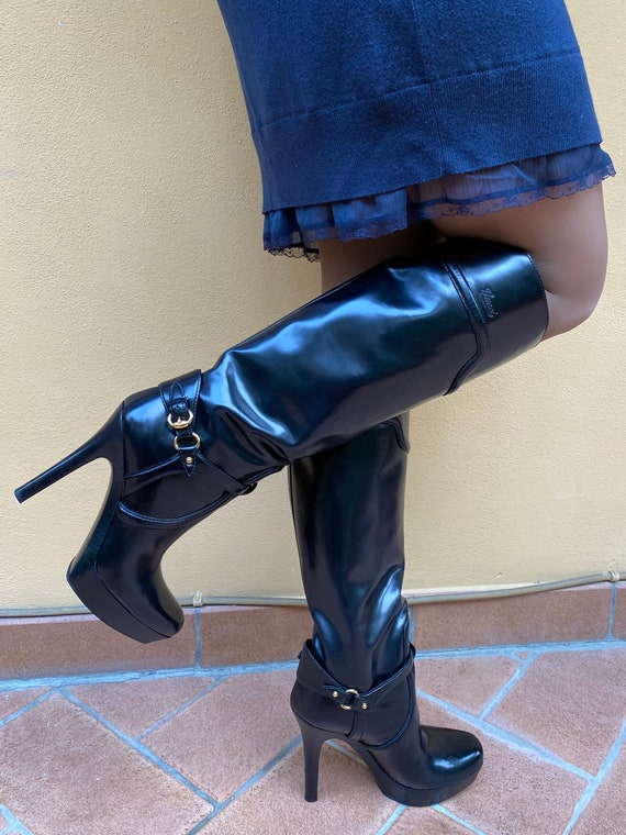 Gucci/Iconic Boots Leather Boot Gucci/Black luxury