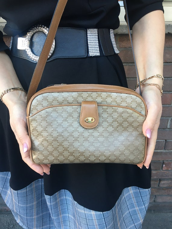 Bag Celine/Vintage shoulderbag/BORSA MONOGRAMMA CE