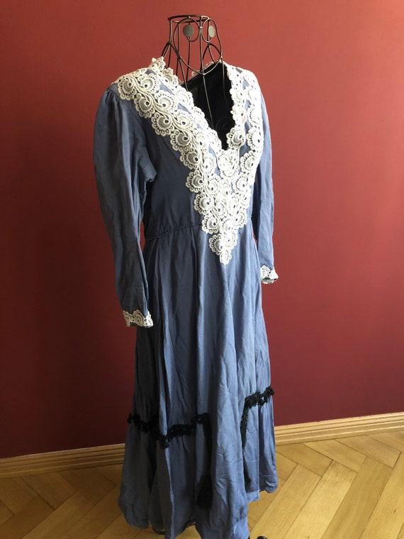 Blue Edwardian repro dress 1910s