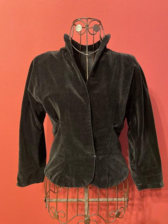 Original 1920s velvet jacket black
