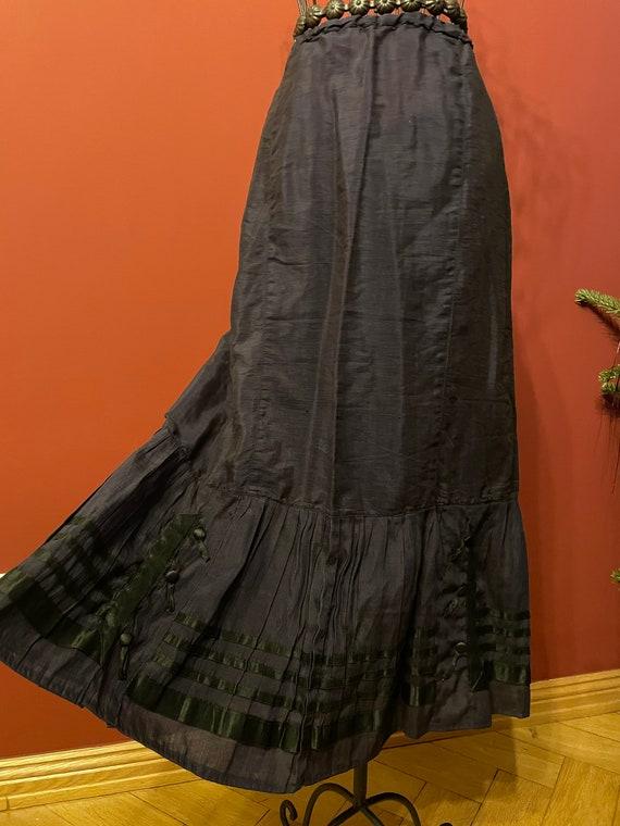 Beautiful edwardian blue skirt 1910s original anti