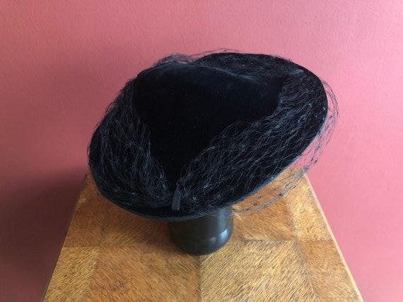 Original edwardian velvet hat 1900s