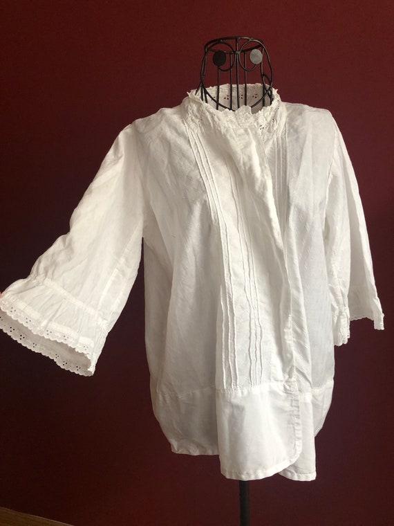 Original edwardian cotton bed jacket 1900s