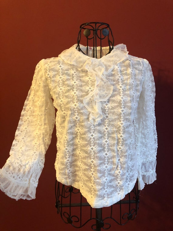 Edwardian antique white blouse 1900s